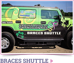 Braces Shuttle Carlyn Phucas DDS in Marlton and Turnersville NJ
